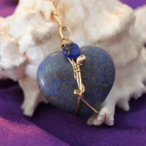 Blue Apatite Heart's Stone Designed