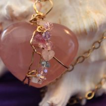 Rose Quartz Heart's Stone Designed