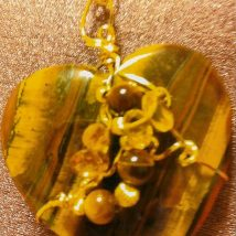 Tiger Eye Heart's Stone Designed